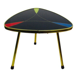 Modernist Atomic German Plant Stand / Small Tripod Table For Sale