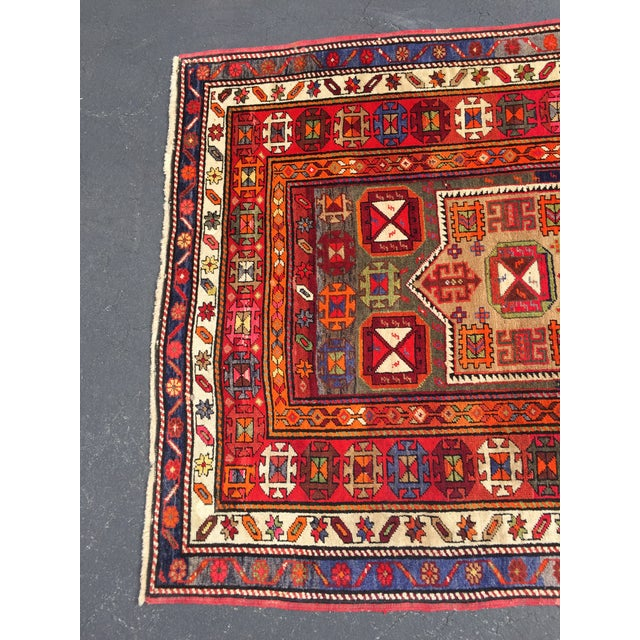 Textile Vintage Turkish Tribal Hand Knotted Runner - 3′10″ × 10′3″ For Sale - Image 7 of 11
