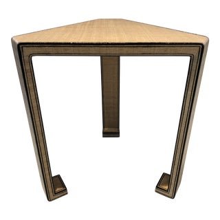 Lacquered Rattan Drinks Table in the Style of Karl Springer For Sale