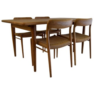 Mid Century Dining Set by Niels Møller For Sale