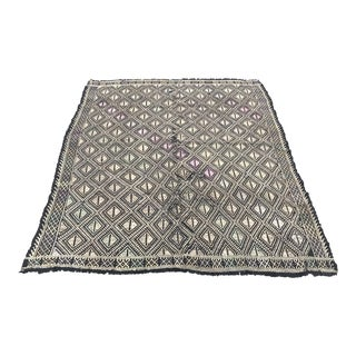 Vintage Pastel Turkish Tribal Kilim Rug - 5′10″ × 7′3″