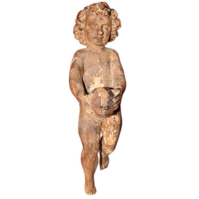 Wood Italian Carved Cherub For Sale - Image 7 of 7