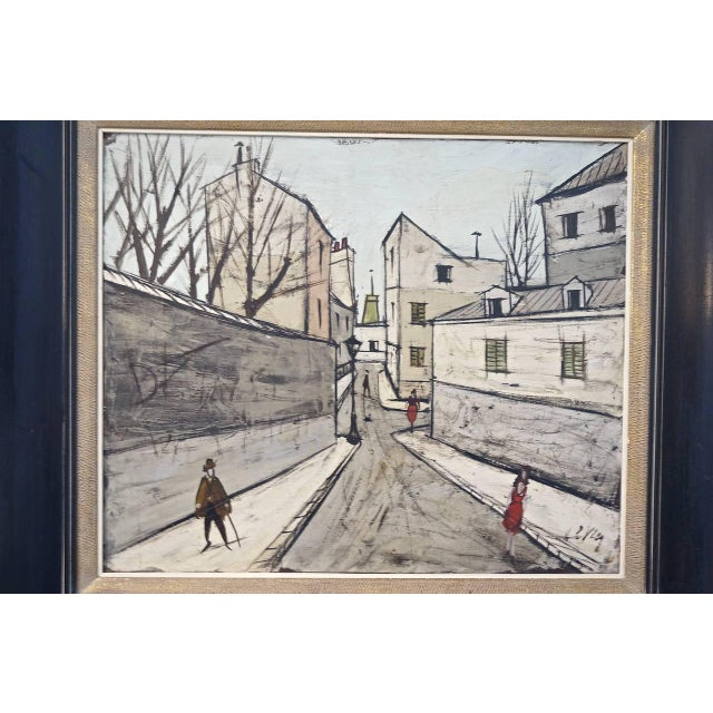 Mid-Century Oil Painting by French Artist Charles Levier For Sale In West Palm - Image 6 of 11