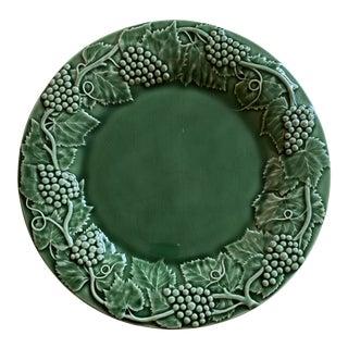 Bordallo Pinheiro Grape Green Chop Serving Plate For Sale