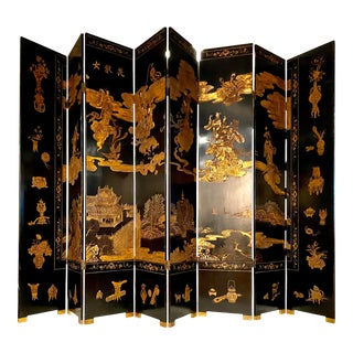Coromandel Chinese Screen Room Divider For Sale