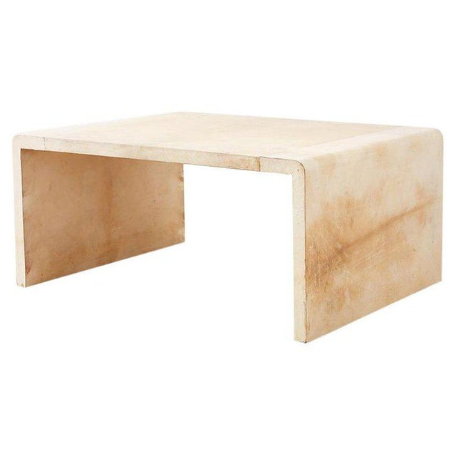 Jean Michel Frank Style Parchment Waterfall Cocktail Table For Sale - Image 13 of 13