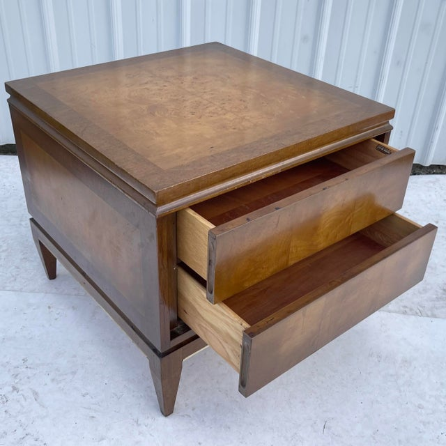 Mid-Century Modern Mid-Century Two Drawer End Table or Nightstand For Sale - Image 3 of 13