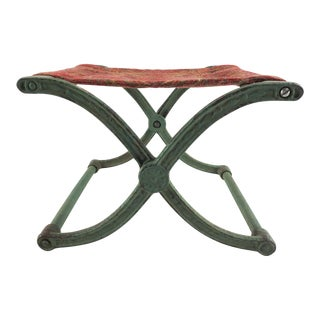 Antique Cast Iron Folding Stool For Sale