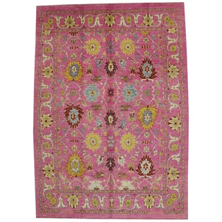 Contemporary Turkish Oushak Rug - 10′9″ × 15′