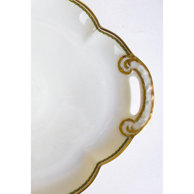 French Country 1960s Theodore Haviland Limoges France Porcelain Handled Tray For Sale - Image 3 of 6