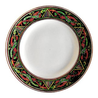 """Antique Belleek """"Celtic"""" Pattern Plate With Dragons For Sale"""
