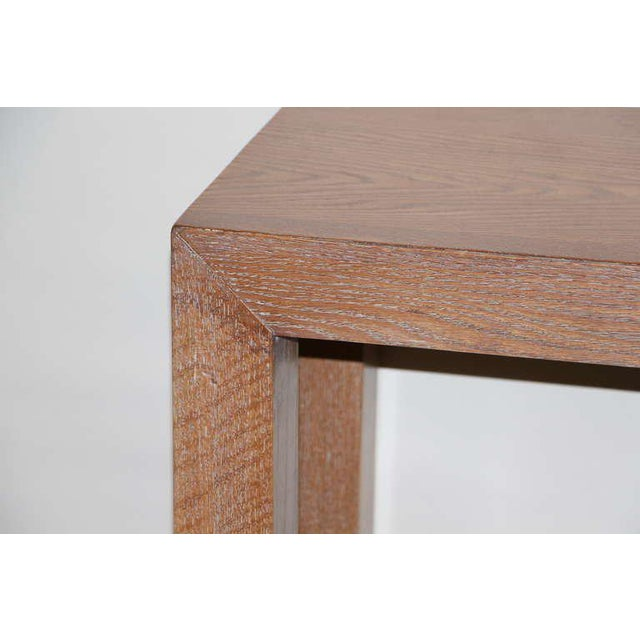 Mid-Century Modern Cerused Solid Oak Console For Sale - Image 3 of 6