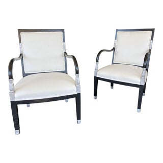 William Switzer French Empire Accent Chairs - a Pair
