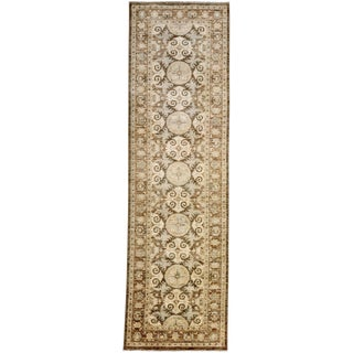 """Oushak Hand Knotted Runner - 3' X 10'3"""" For Sale"""