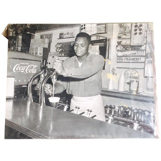 Ice Cream Parlor Original Charles Harris Photo For Sale