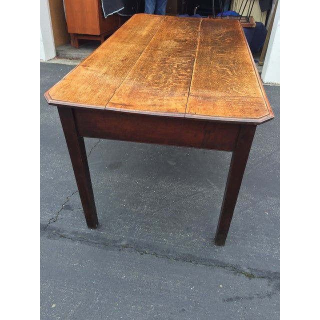 Antique French Farm Table With Drawers For Sale In San Francisco - Image 6 of 13