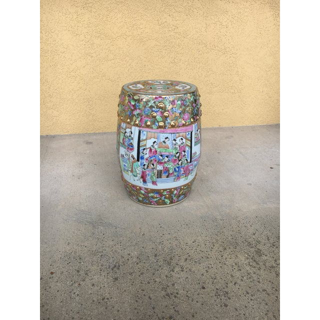 Contemporary Chinoiserie Garden Stool For Sale In Tampa - Image 6 of 12