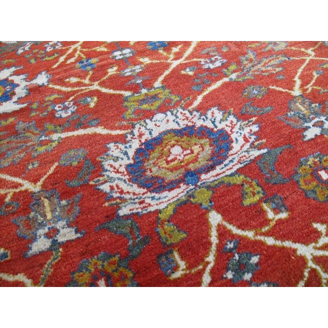 Blue Fantastic Antique Sultanabad Carpet For Sale - Image 8 of 10