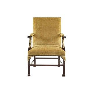 Pair of Baker Furniture Square Back Chairs For Sale