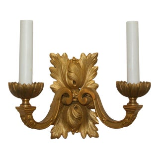 Gilt Bronze Louis XVI Style Sconces - A Pair For Sale