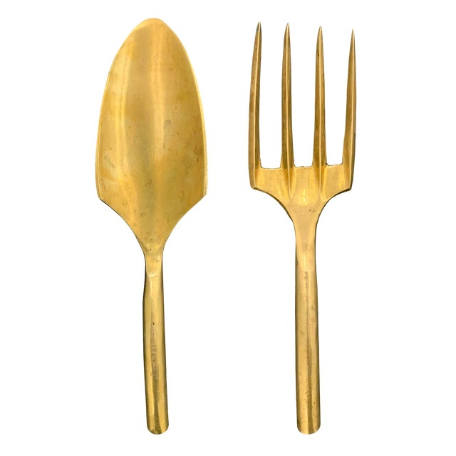 20th Century Brass Garden Tools - Set of 2 For Sale