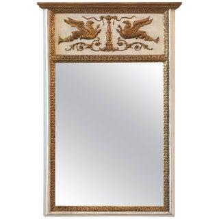 Parcel-Gilt Labarge Trumeau Mirror For Sale
