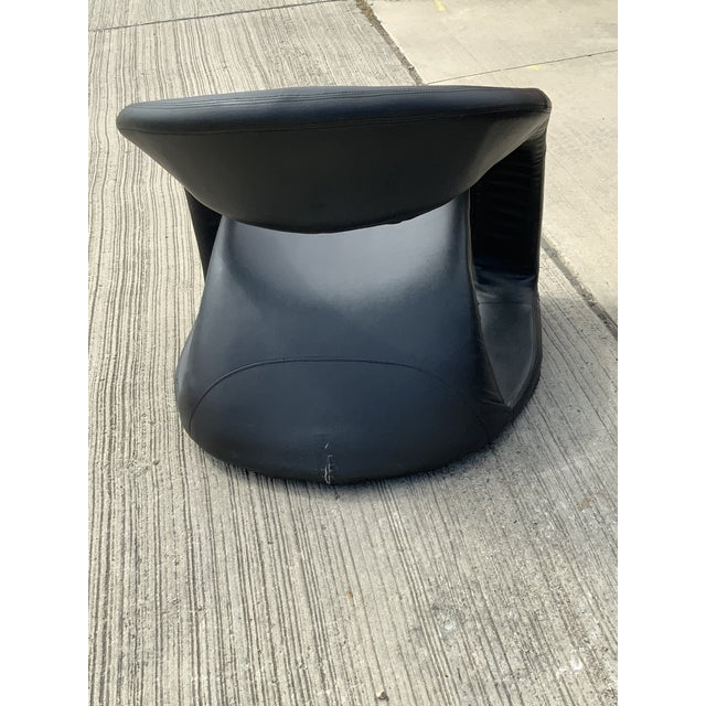 Fabric 1990s Vintage Sculptural Sinuous Cantilever Chairs - A Pair For Sale - Image 7 of 10