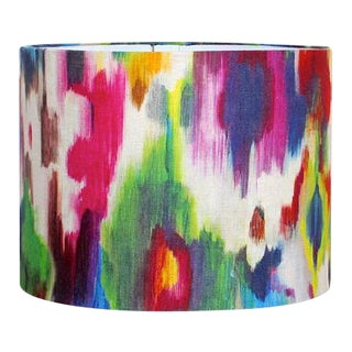 Loom Abstract Watercolor Drum Lamp Shade