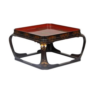 Late 19th Century. Meiji Period Lacquered Tea Table