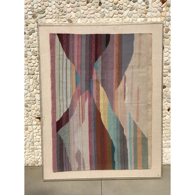 Plastic Handwoven Abstract in Plexi Case From a Steve Chase Palm Springs Estate For Sale - Image 7 of 10