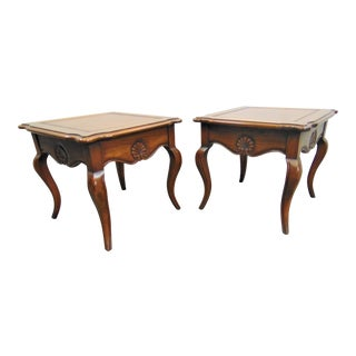 Hekman French Style Shell Carved Low Tables - a Pair For Sale