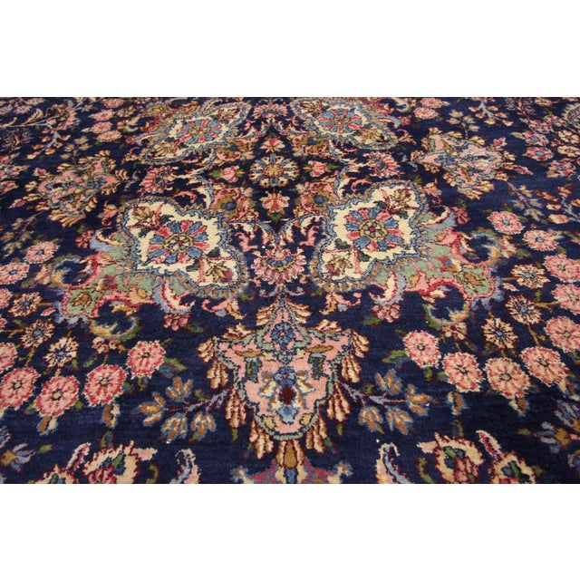 """Antique Persian Kirman Palace Size Rug - 11' X 17'4"""" For Sale - Image 4 of 10"""
