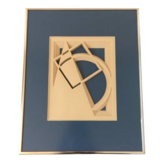 Mid-Century Modern Geometric 3D Paper Art For Sale
