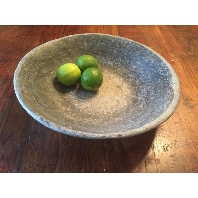 Old Grey Marble Bowl - Image 3 of 7