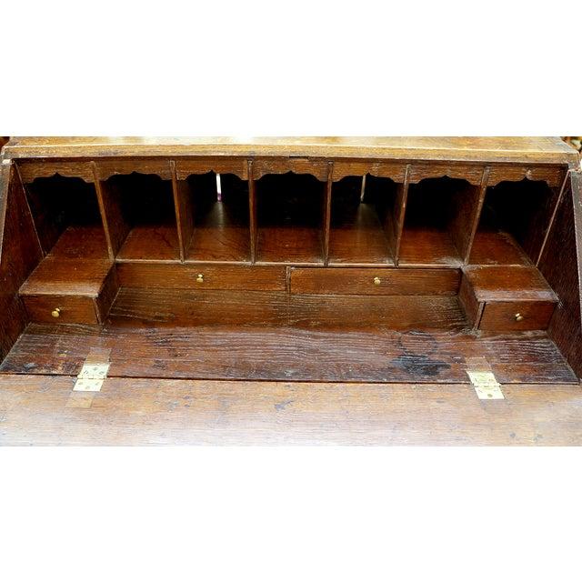 Ornate Hand Carved Oak Secretary Desk - Image 3 of 7