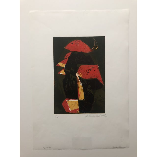 Mid-Century Modern Rooster European Woodcut 1950s For Sale - Image 6 of 8