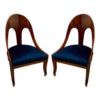 Michael Taylor for Baker Furn. Spoon Back Chairs-A Pair For Sale