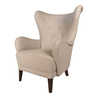 Danish Modern Wingback Chair For Sale