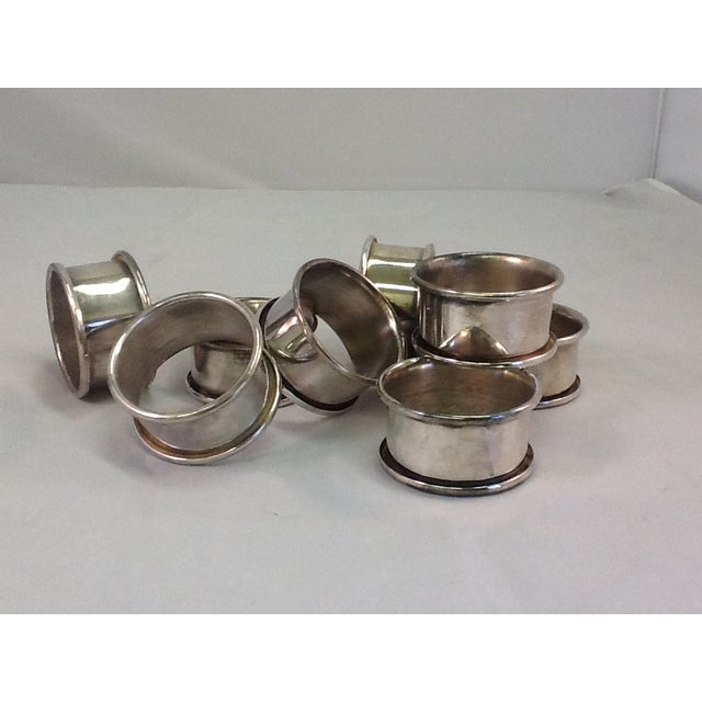 Vintage Silver Plate Napkin Rings - Set of 8 - Image 2 of 4