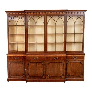 Breakfront Cabinet by Boston's Master Furniture Maker Joseph Gerte For Sale