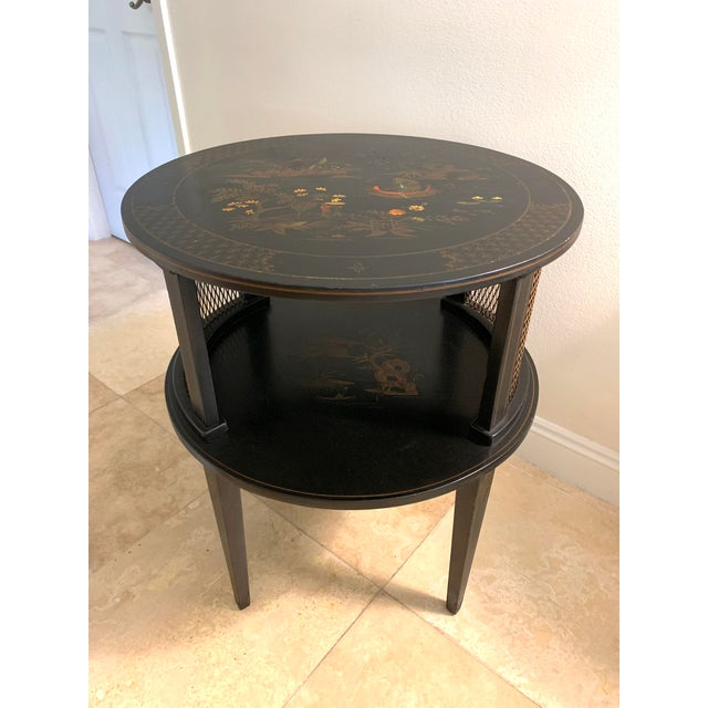 1930s Signed Katherine Henick Hand-Painted Chinoiserie Side Table For Sale - Image 13 of 13