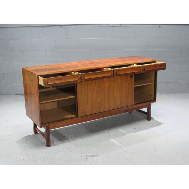 1960s Danish Modern Bordum Og Nielsen Rosewood Sideboard For Sale - Image 4 of 12