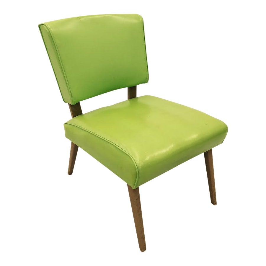 vintage mid century modern slipper side chair chairish. Black Bedroom Furniture Sets. Home Design Ideas