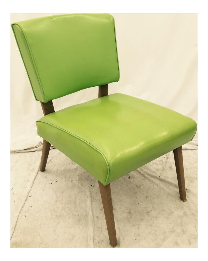 Vintage Mid Century Modern Slipper Side Chair   Image 1 Of 9