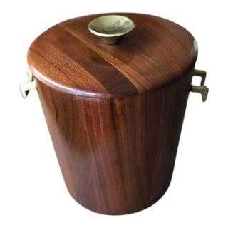 Mid-Century Modern Solid Walnut Ice Bucket For Sale