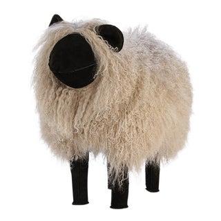 Lalanne Style Light Grey Tibetan Lamb Sheep