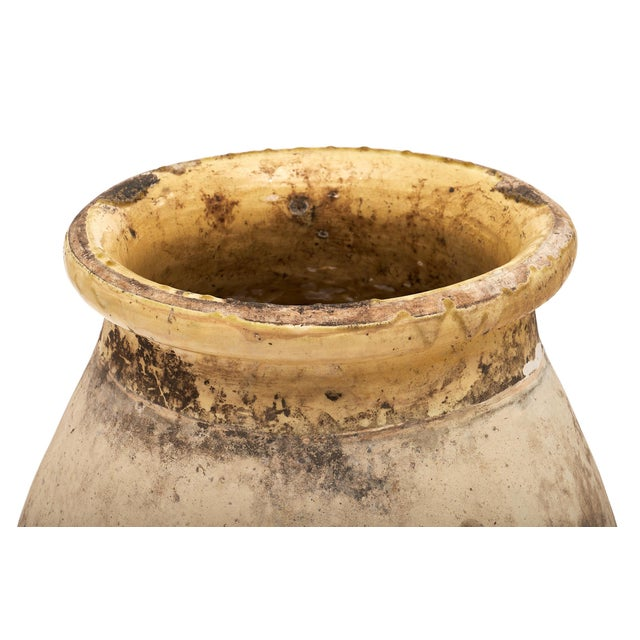 Antique Glazed Terra Cotta Urn For Sale - Image 4 of 5