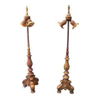 1910s Baroque Style Lamps - a Pair For Sale