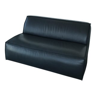 Baxter Italian Genuine Leather Settee For Sale