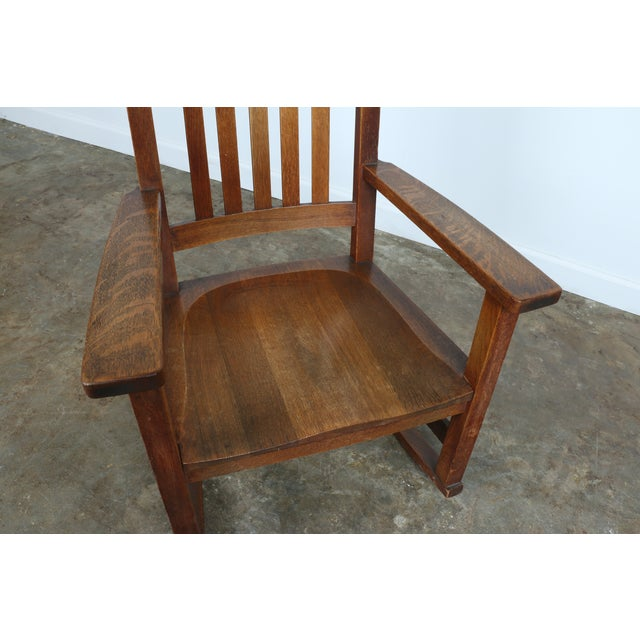 Stickley Oak Rocking Chair - Image 9 of 11